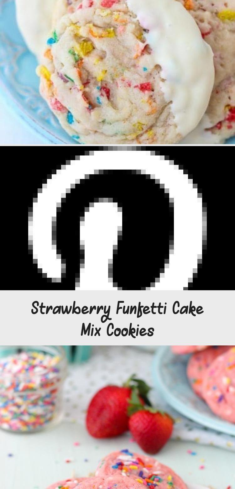 Photo of Strawberry Funfetti Cake Mix Cookies #PinataKuchenEinfach #PinataKuchenBirthday …