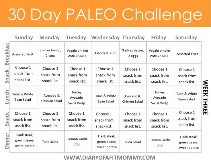 Diary of a Fit Mommy   30 Day Paleo Challenge. Come with free meal…