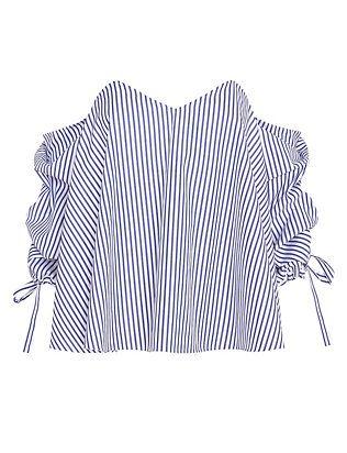 169031ebd83 Caroline Constas EXCLUSIVE Striped Poplin Off The Shoulder Blouse ...