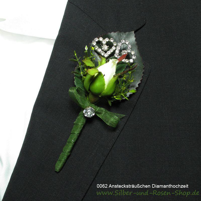 Strass Ansteckstrausschen Diamantene Hochzeit Diamantene Hochzeit Diamanten Hochzeit