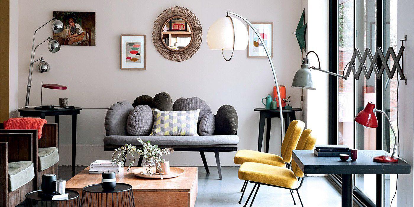 Des salons modernes qui mixent les styles   Home   Living Room ...