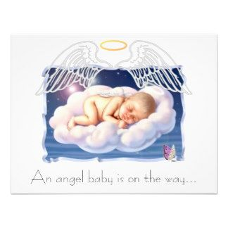 The new parents to be are on cloud 9 and apparently so is baby as he or she waits to make that long anticipated appearance.  Here is a great invite to get the shower off to a heavenly start.  Find it at  http://www.zazzle.com/rainbowfairy*