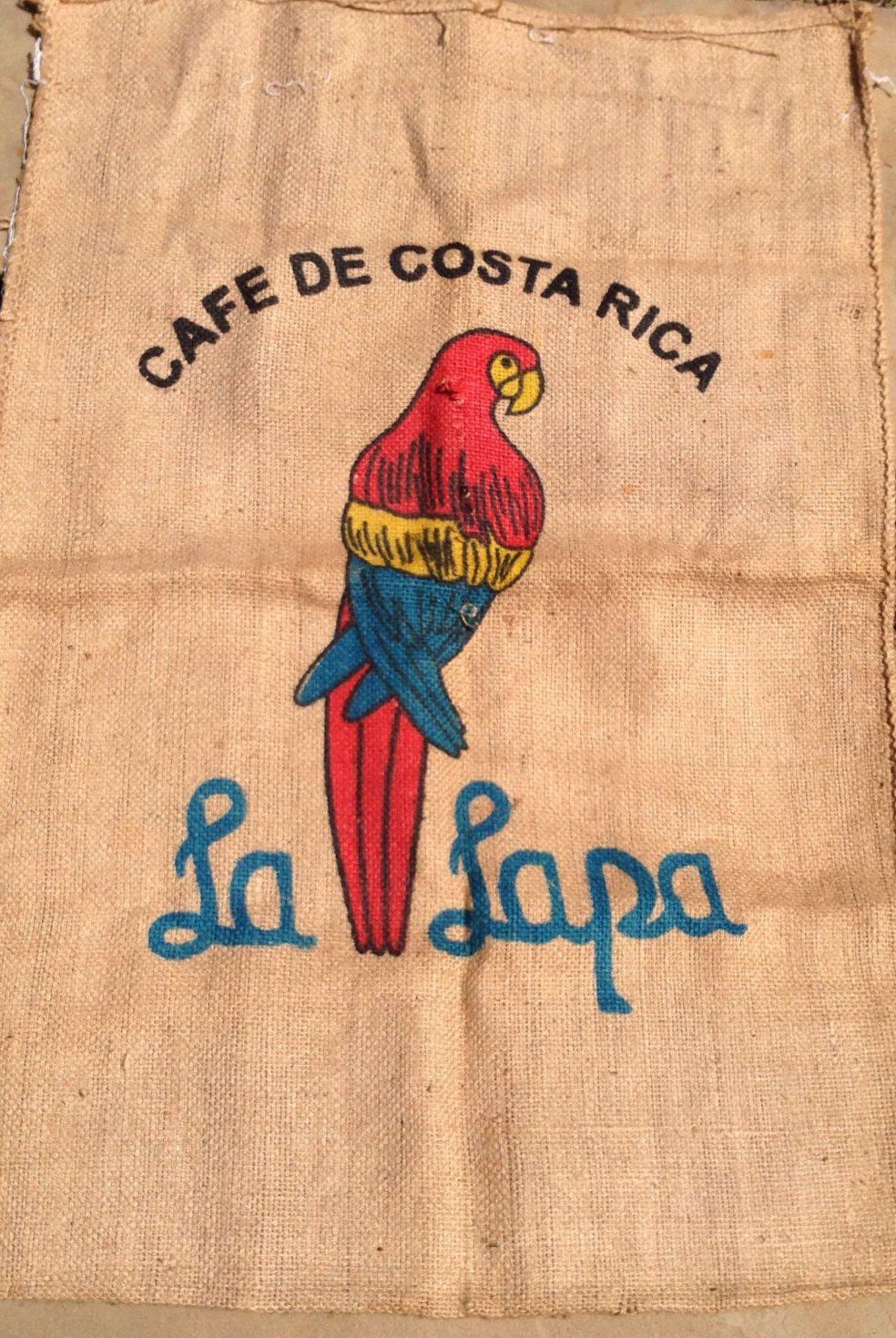 Vintage Cafe De Costa Rica La Lapa Burlap Coffee Sack Costa Rica