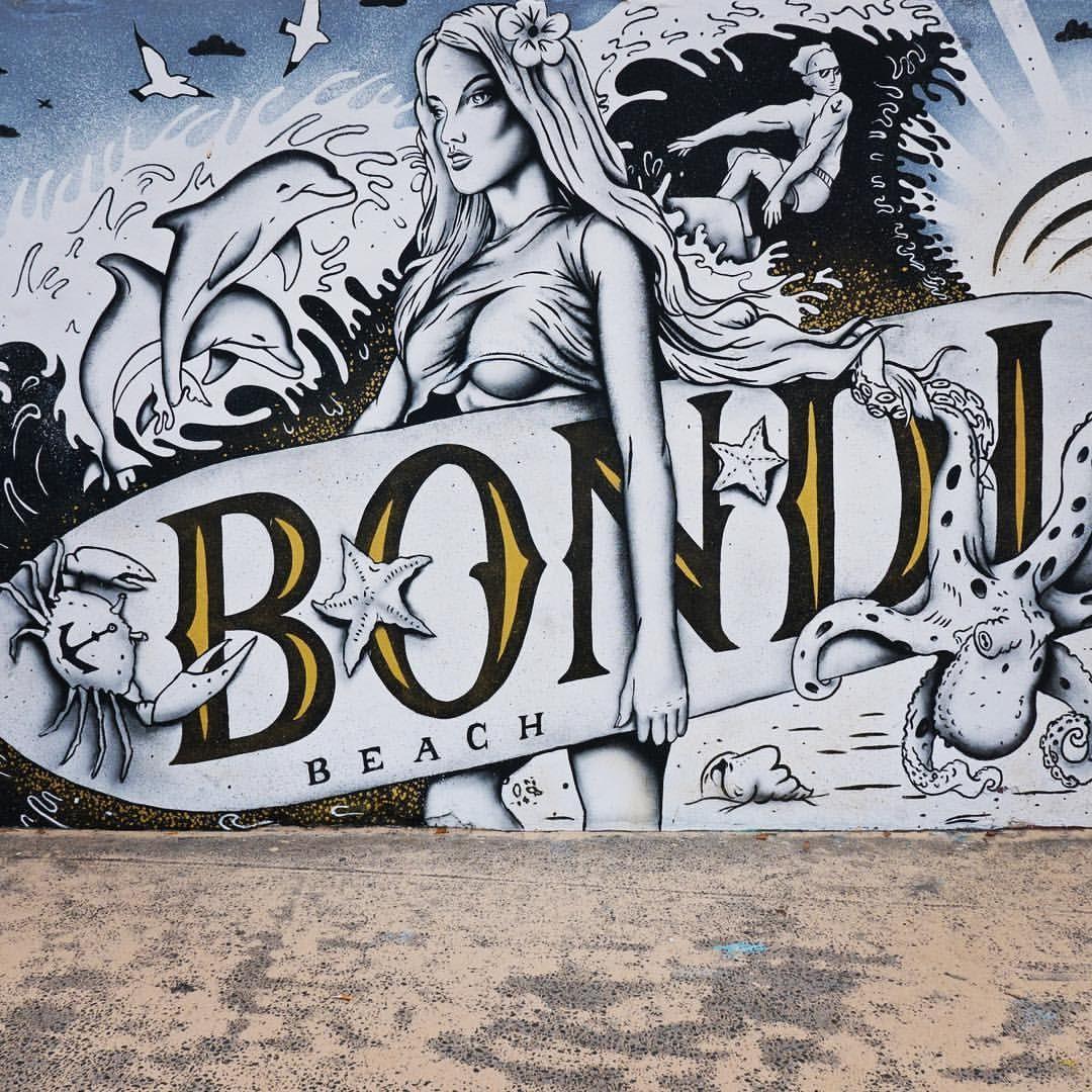 Bondi beach graffiti wall sydney new south wales