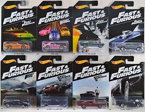 Hot Wheels Fast And Furious Set Of 8 2016 Exclusive 1 64 With