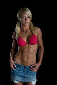 Girls topless ripped abs