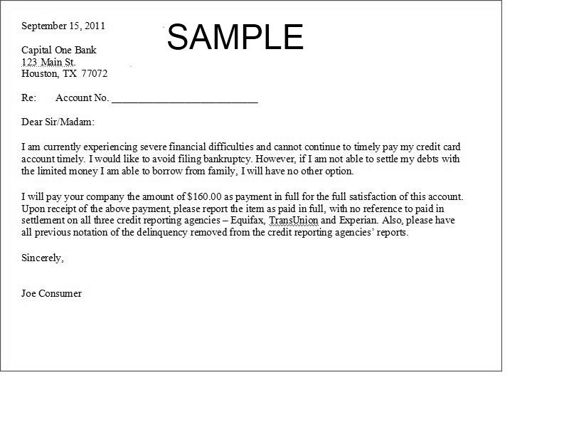 Printable Sample Settlement Letter Form Laywers Template Forms - credit agreement