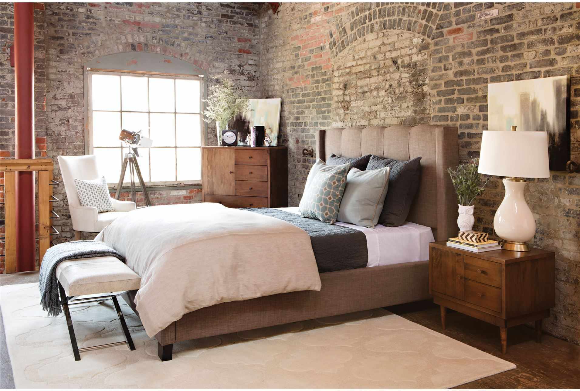 Zane Arm Chair Living Spaces Bedroom furniture