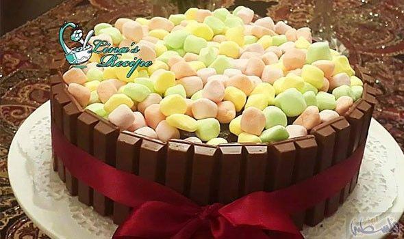 إعداد كعكة الشوكولاتة مع الكيت كات بأسلوب سهل Food Cake Desserts