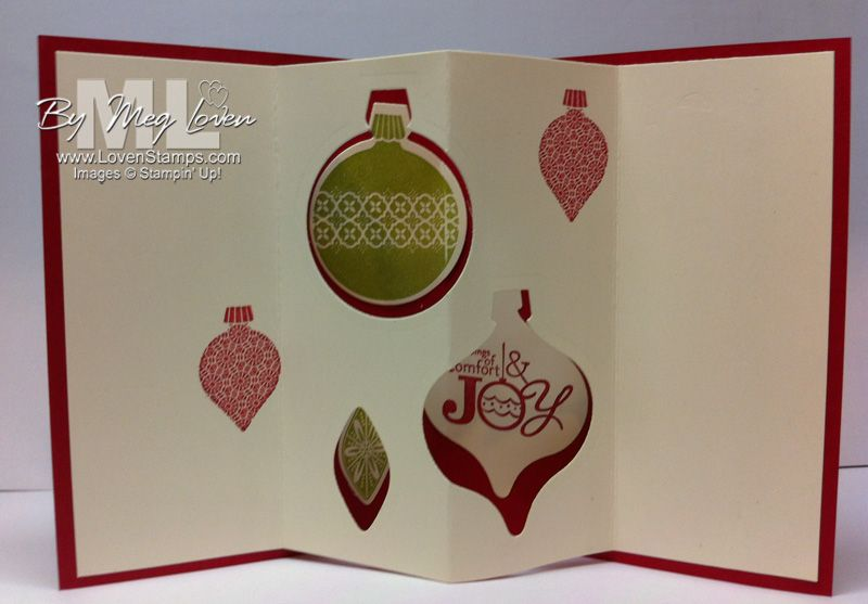 Holiday Collection Framelits make a great tunnel card - or even a triple tunnel card