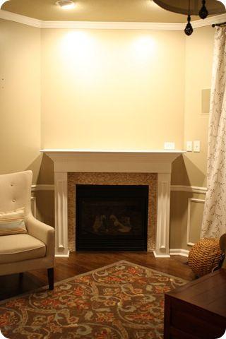 Thrifty Decor A Fireplace Redo