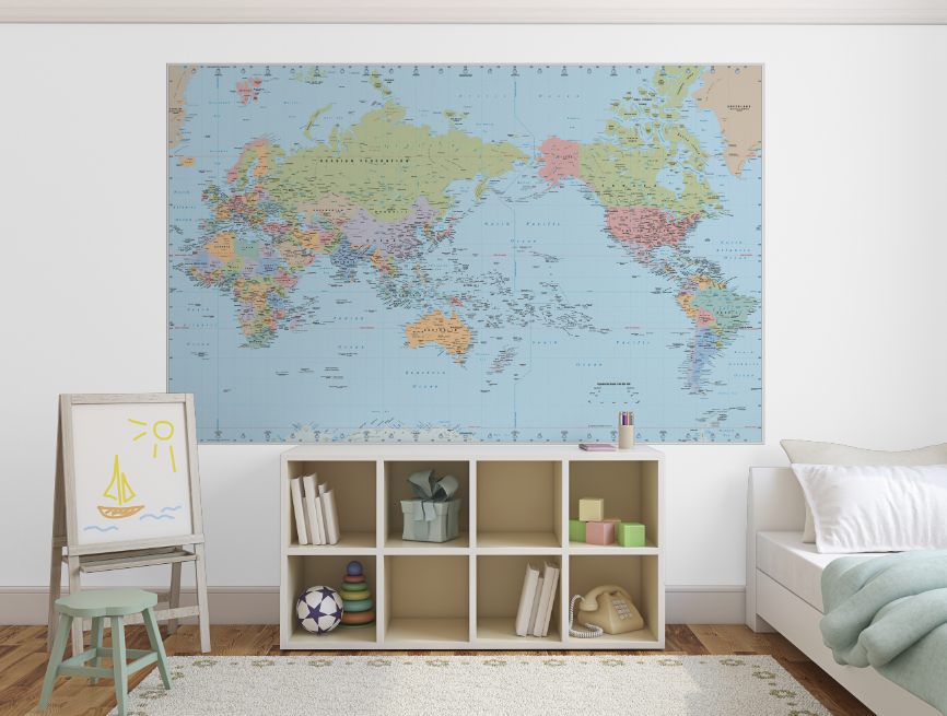 Pickawall removable wallpaper world map 160 maps wallpaper pickawall removable wallpaper world map gumiabroncs Image collections
