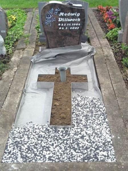 Pflanzkreuz aus Edelstahl | Grab | Grab dekoration ...
