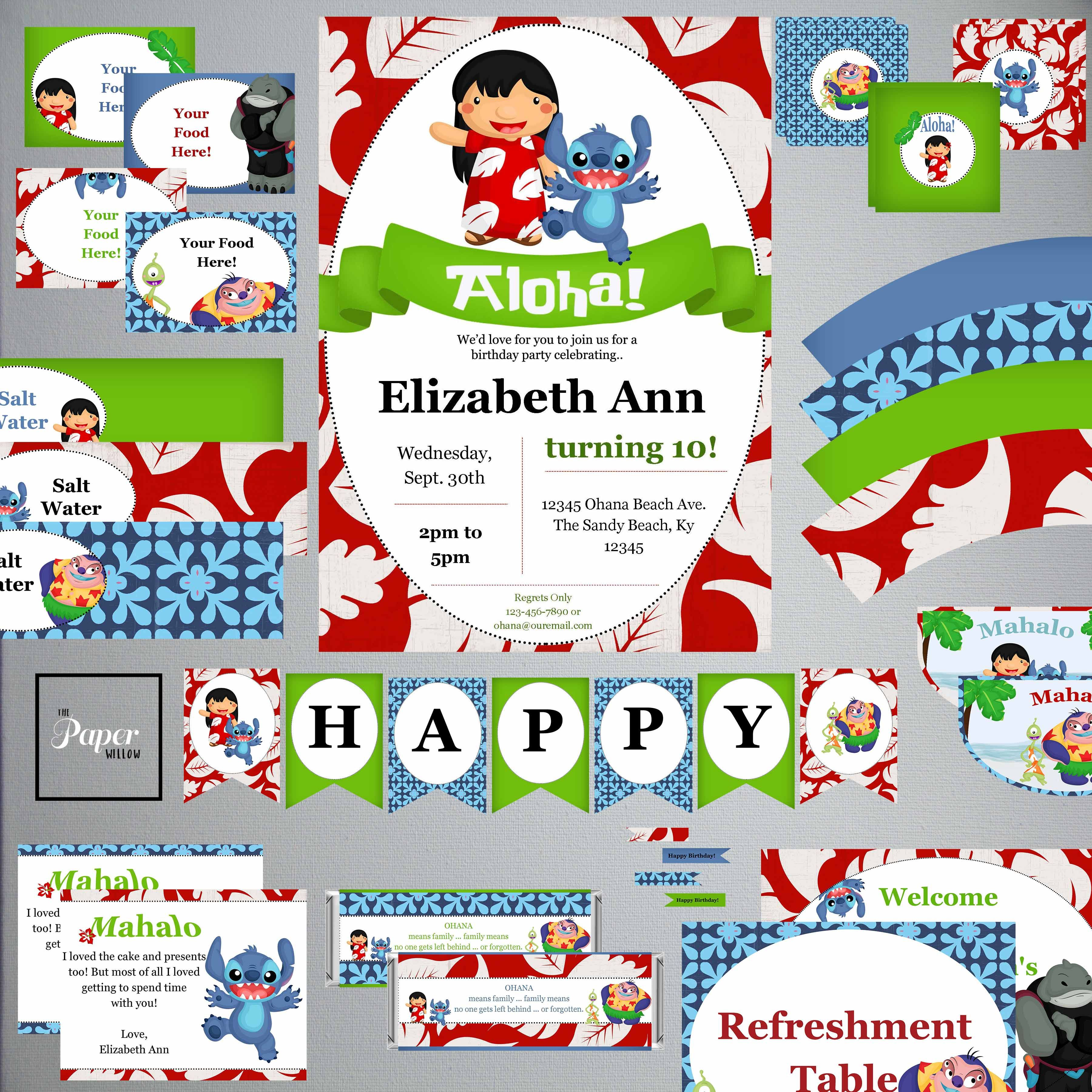 Lilo and Stitch Birthday Party Games Themes and Printables ...