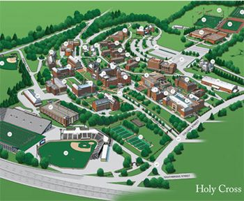 Holy Cross Campus Map Here's a map of Holy Cross so you can get oriented. (With images