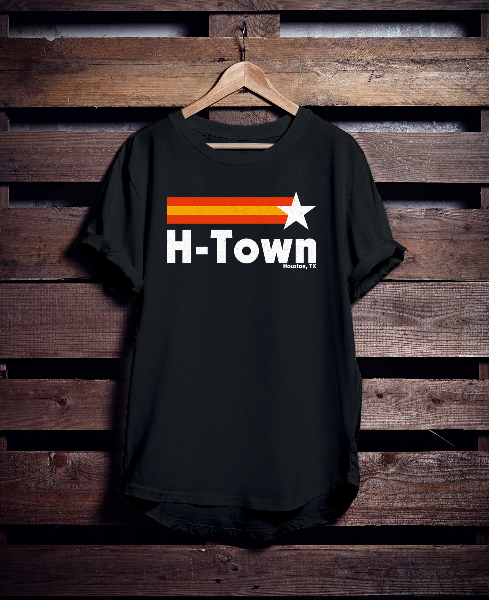 Show your Houston pride with this H-Town Houston Texas t-shirt