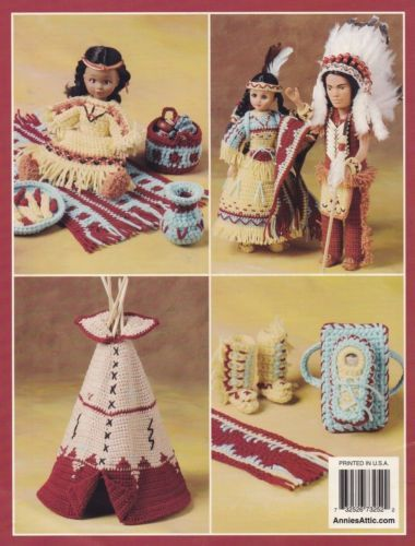 Native-American-Family-Annies-Doll-Clothes-Crochet-Pattern-Booklet-873252 #indianbeddoll