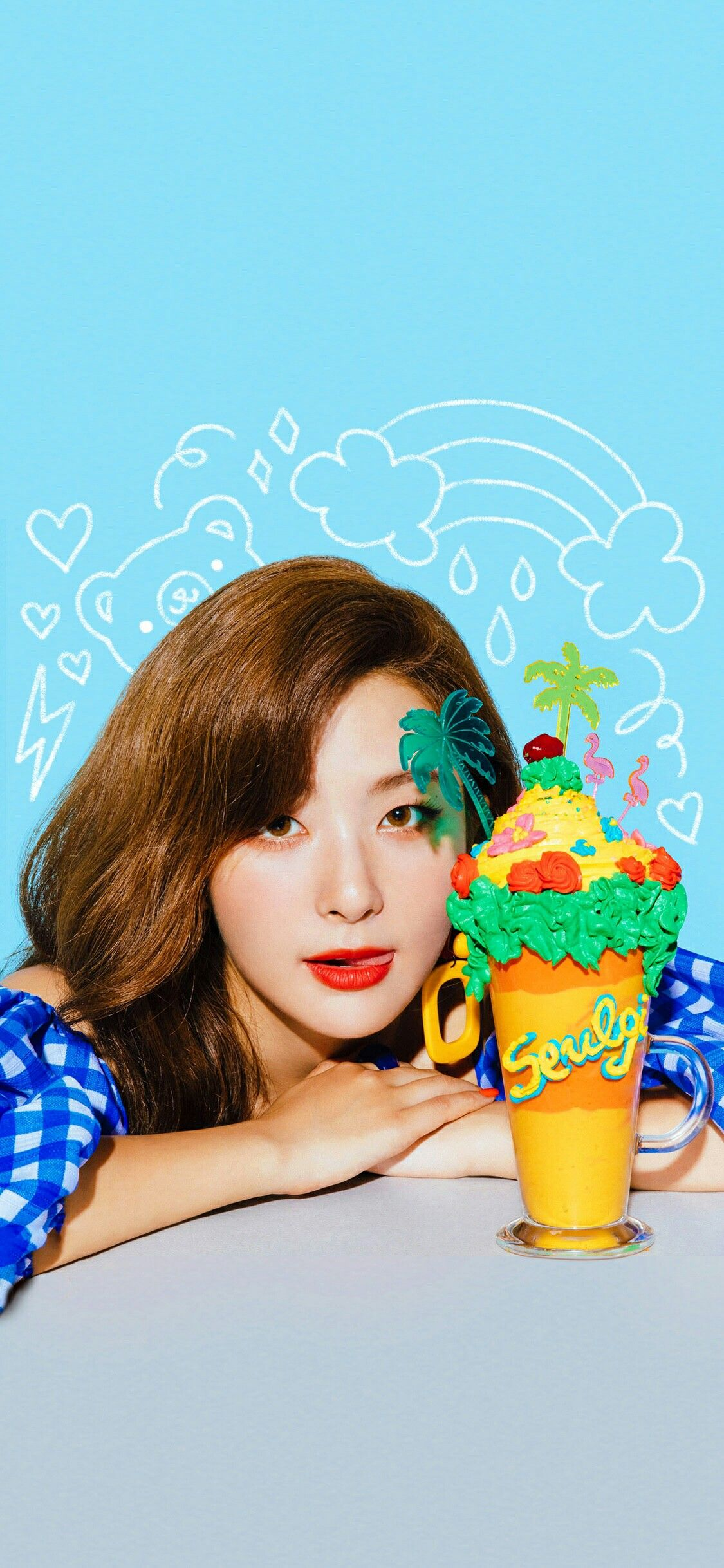 Red Velvet Seulgi Irene Wendy Yeri Joy Wallpaper Lockscreen Hd Fondo De Pantalla Iphone Power Up Latar Belakang Kpop