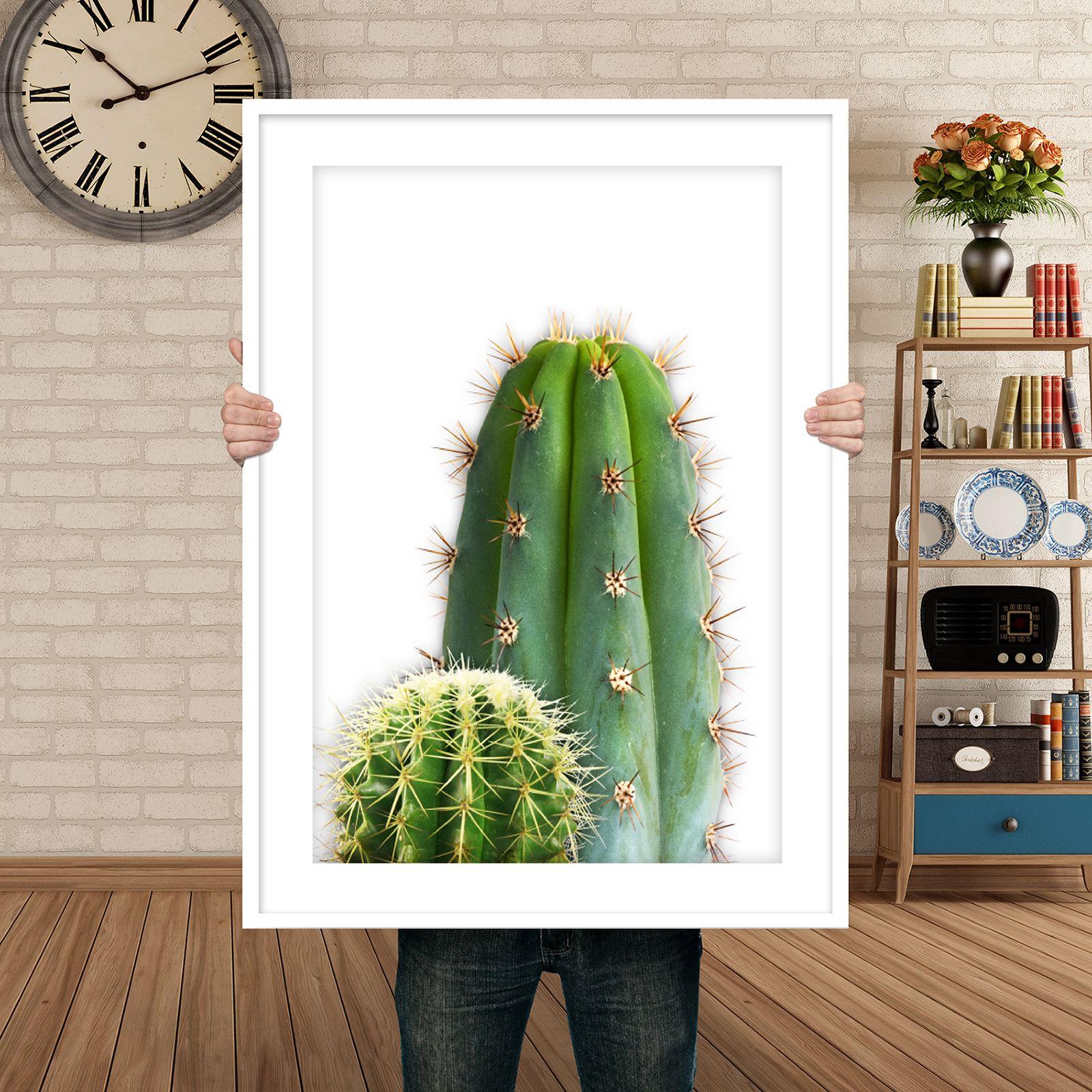 Cactus print large wall art minimalist poster nursery