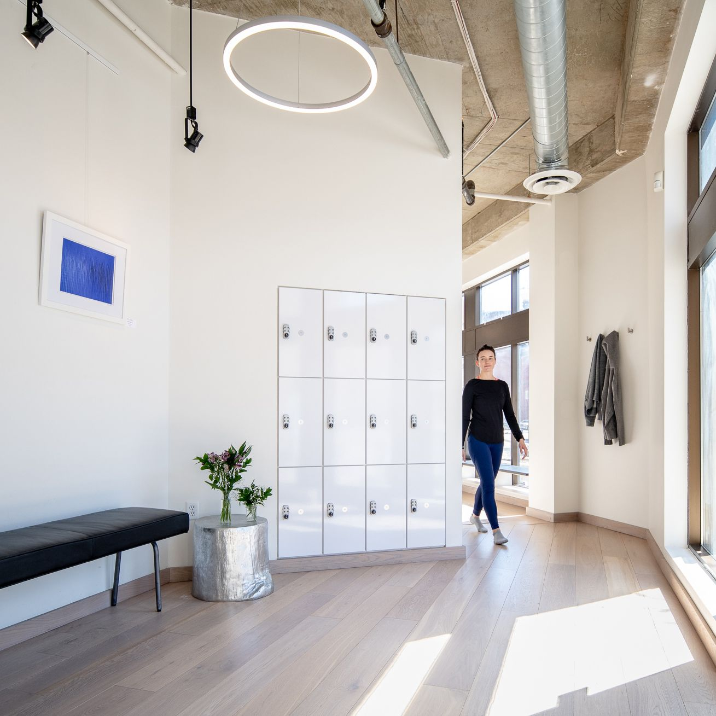Pilates Yoga Studio Entry Hallway. St Paul, Minnesota