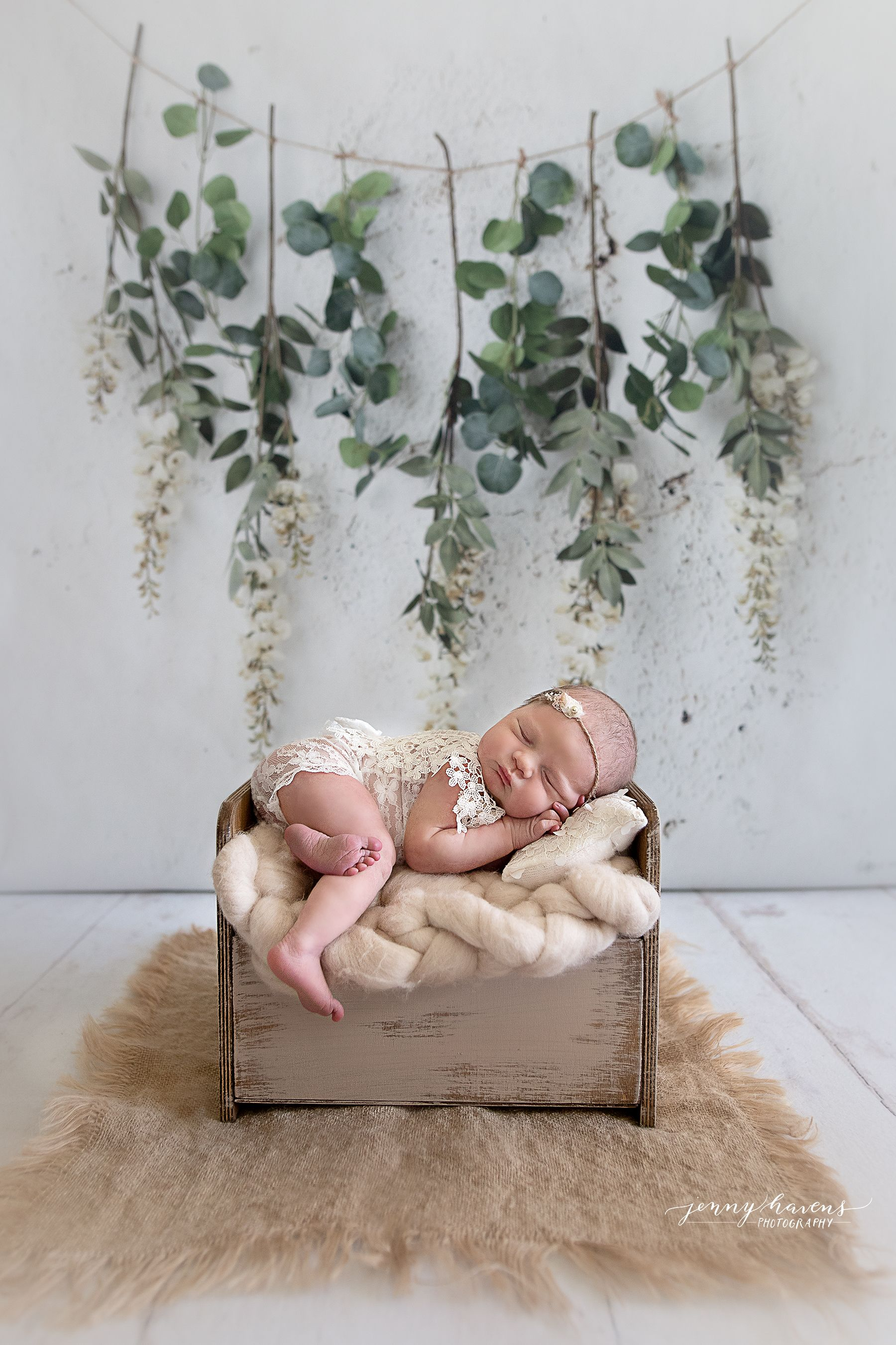 Jenny Havens Photography - Newborn Photoshoot styled with props - in home session