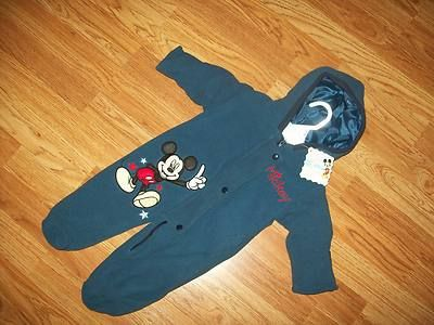 NWT Infant DISNEY Mickey Mouse Hooded Fleece 1 pc BUNTING SNOWSUIT 6 - 9 MONTHS on eBay!