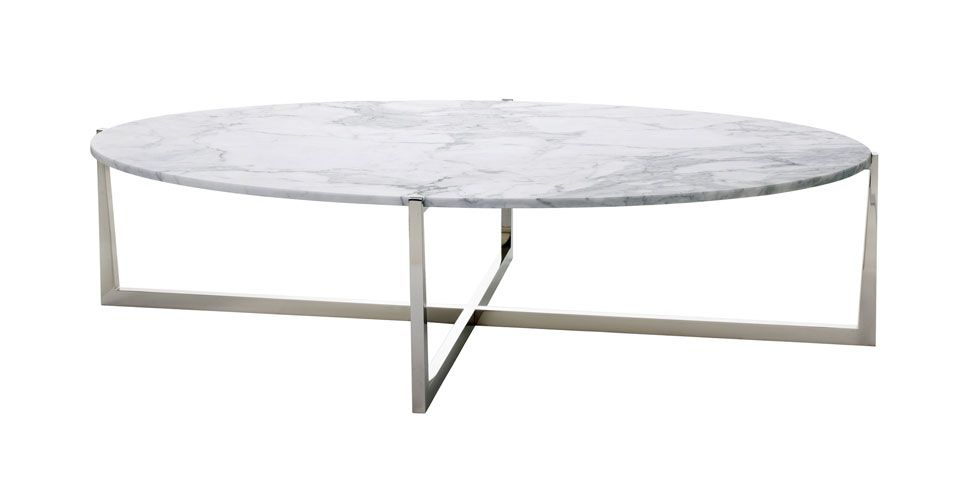 oval marble coffee table - powell & bonnell | classic furniture