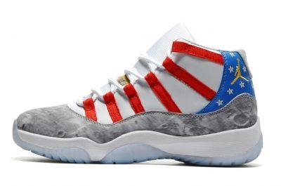 Nike Air Jordan XI 11 Retro Men Shoes USA Moon Landing Star Spangled Banner