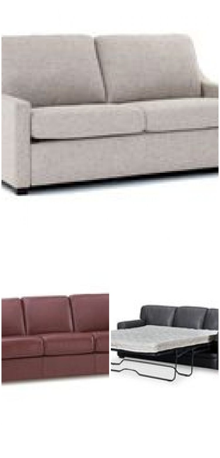 Avenell 87 Leather Queen Sleeper Sofa Created For Macy S With