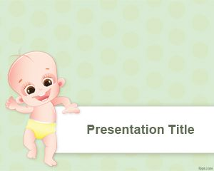 People Ppt Template With Baby And Her Early Steps Background Powerpoint Template Free Presentation Template Free Powerpoint Templates