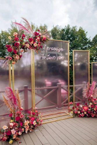 Arco para casamento geométrico: + de 90 inspirações para você