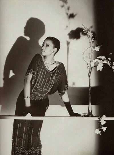 Vogue Paris March 1978 Ombres et Lumières with Mounia Photo by Horst P Horst