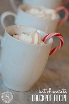 Crockpot Hot Chocolate Recipe! Quick and Easy Hot Drink Recipe for Holiday Parties and Snow Days!