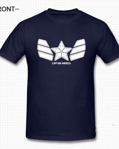Captain America The Winter Soldier t shirt for men navy -