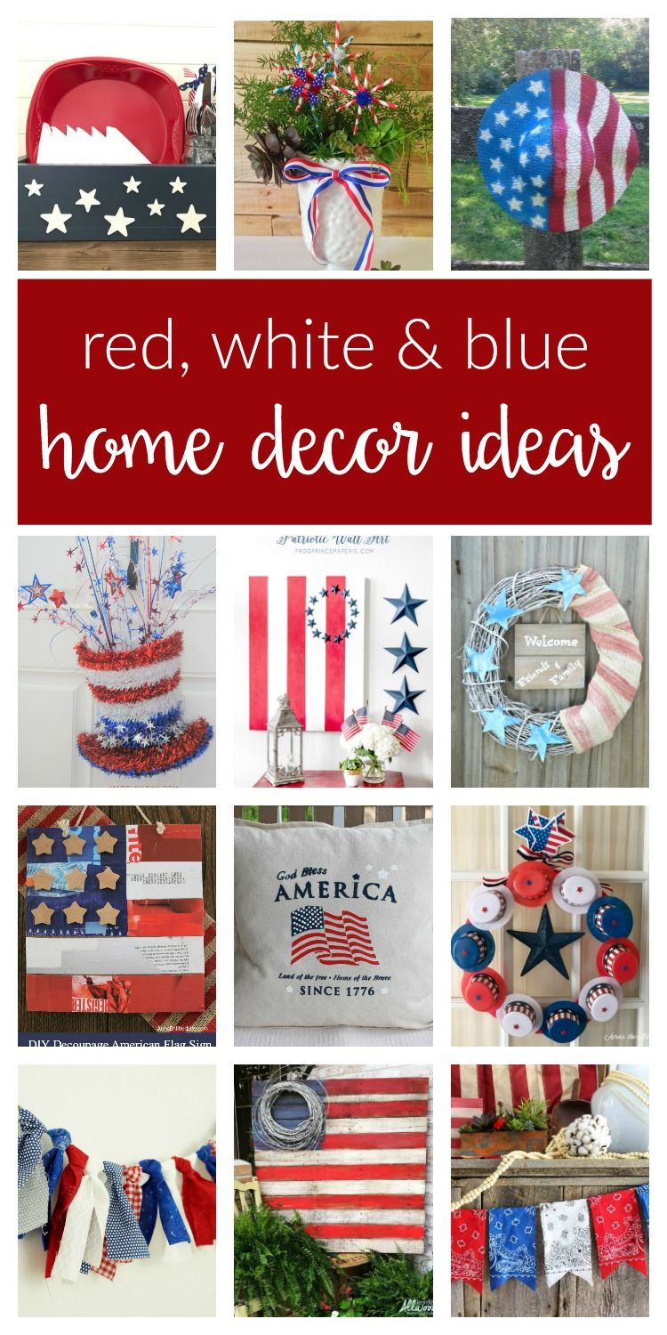 Patriotic Home Decor Ideas Merry Monday 159 Two Purple Couches Fourth Of July Decor 4th Of July Decorations July Crafts