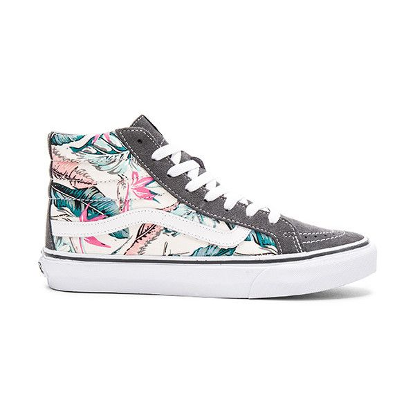 2ca86f847b5fbb Vans Tropical Sk8-Hi Slim Sneaker Shoes ( 65) ❤ liked on Polyvore featuring