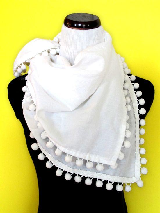 Diy pompon scarf scarf summer summer scarves and diy scarf diy pompon scarf solutioingenieria Images
