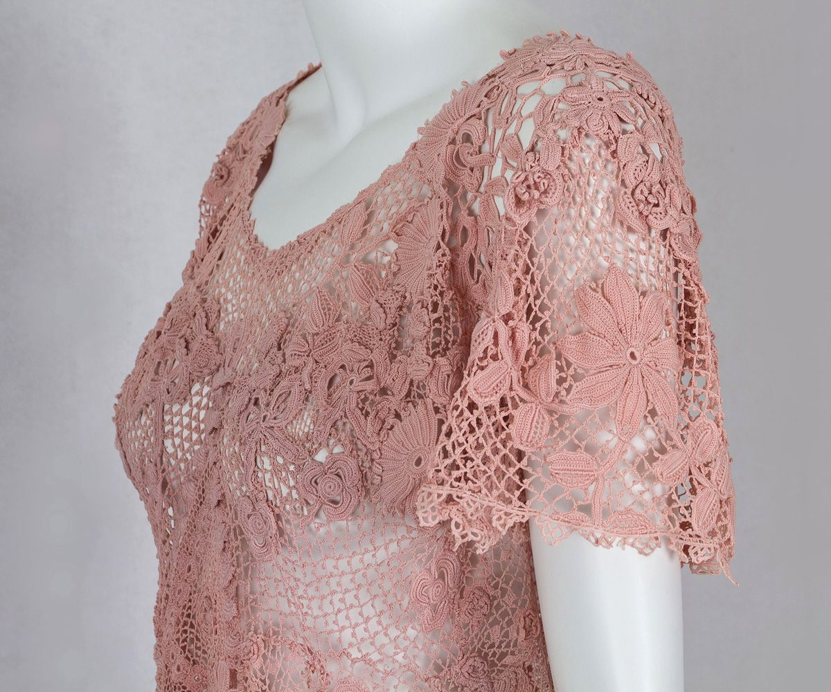 1930s Clothing at Vintage Textile: #2817 Irish lace dress | History ...