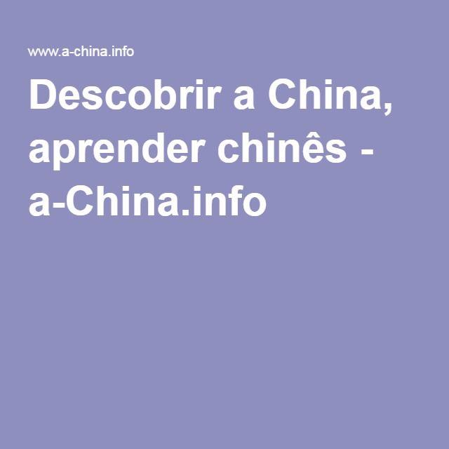 Descobrir a China, aprender chinês - a-China.info