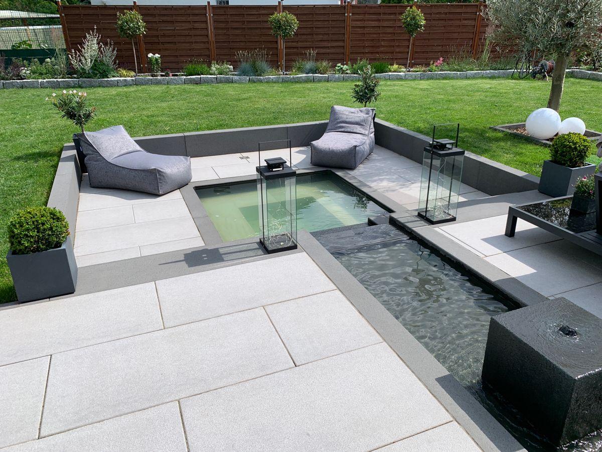 Moderner Mini Pool In 2021 Garten Vorgarten Garten Loungemobel Garten