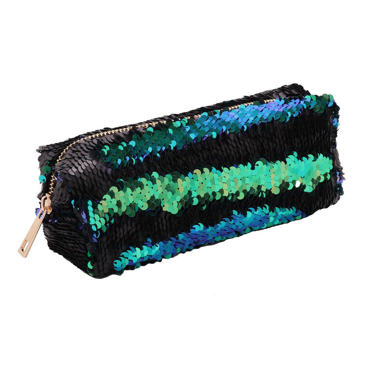 YiZYiF Magic Mermaid Sequin Cosmetic Pouch Girls Glitter