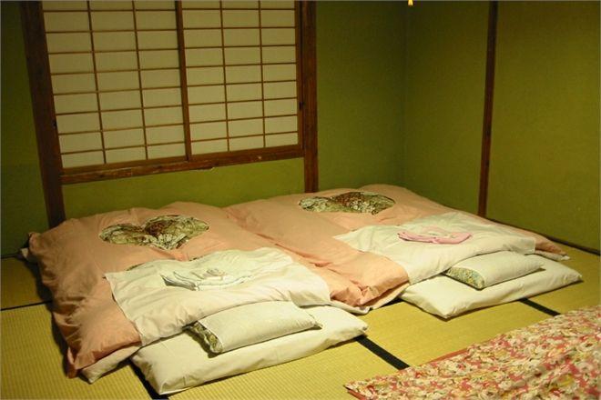 Schlafen Auf Futon Und Tatami