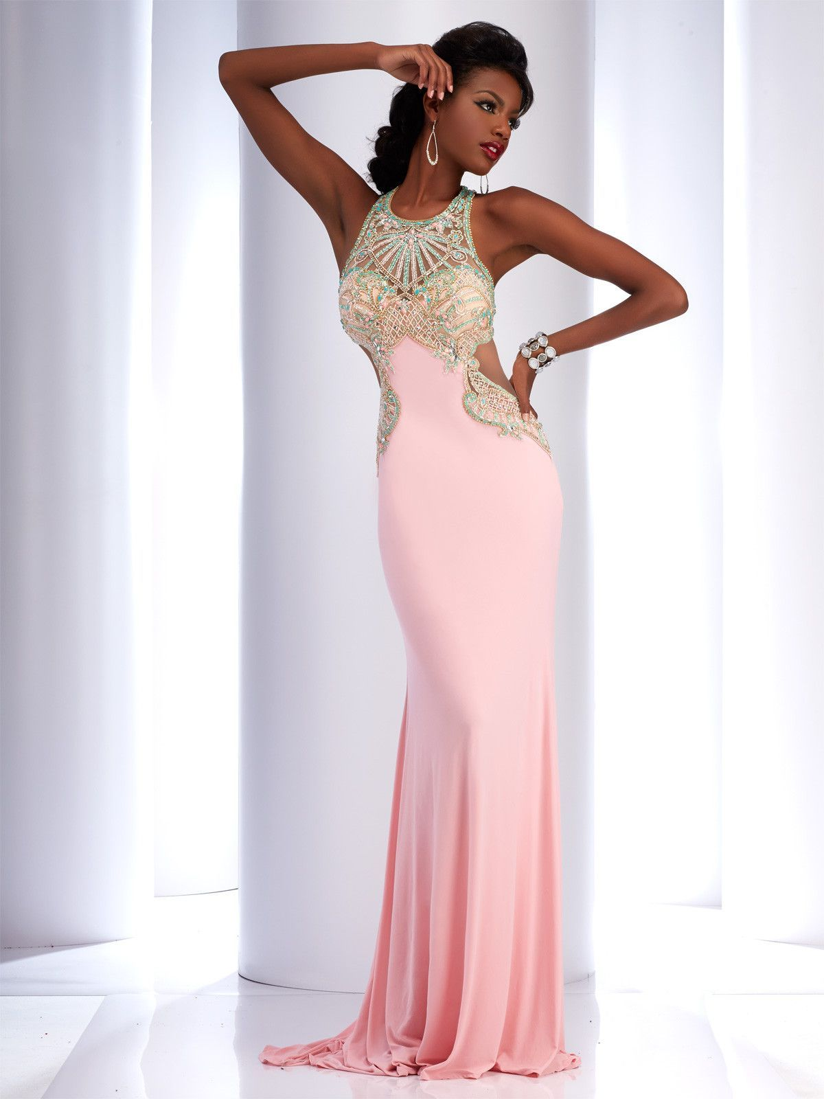 Clarisse light pinkmint prompageants pinterest prom