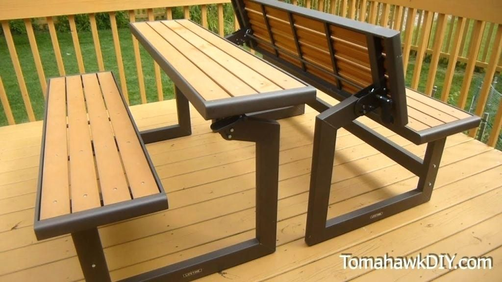 Bench That Turns Into A Picnic Table Plans Bench That Turns Into A