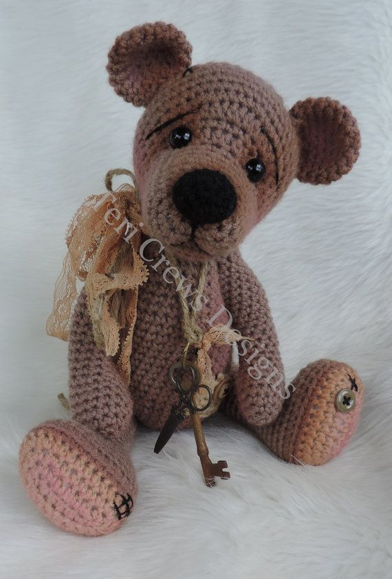 Prim Teddy Bear Crochet Pattern by Teri Crews | Pinterest ...