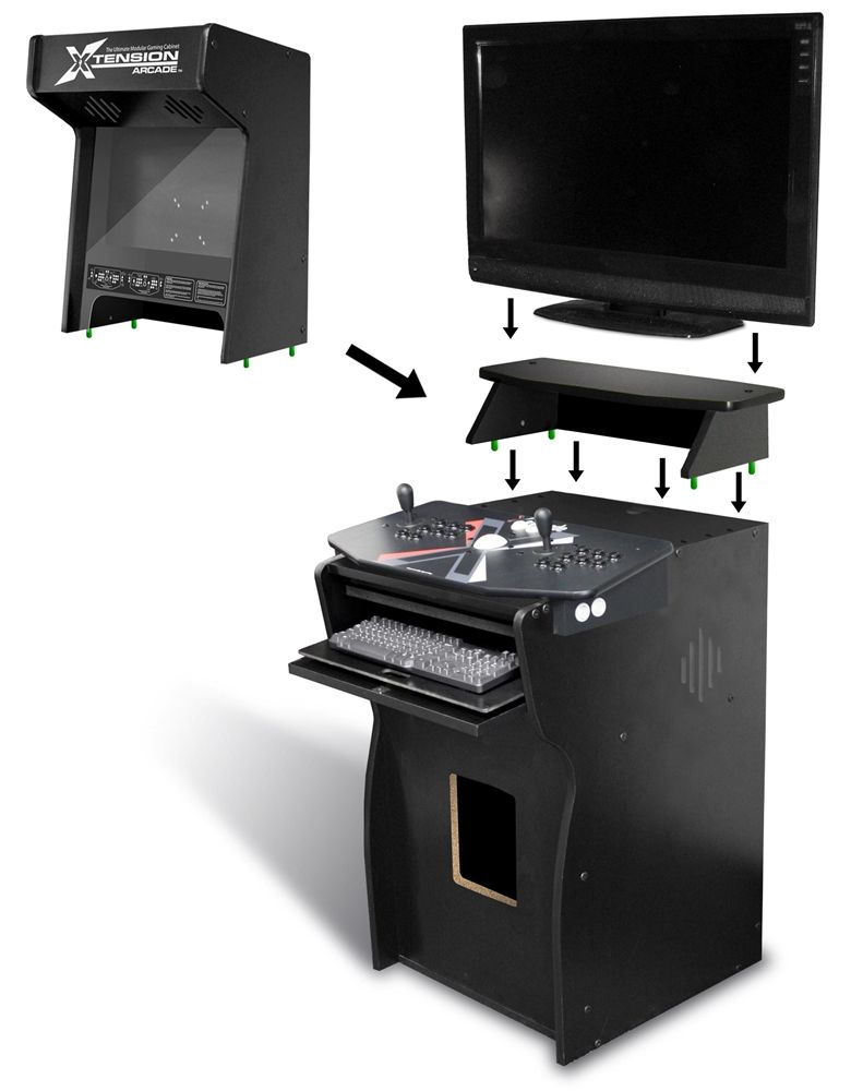 Xtension Arcade Pedestal (Arcade Cabinet) for X-Arcade ... on