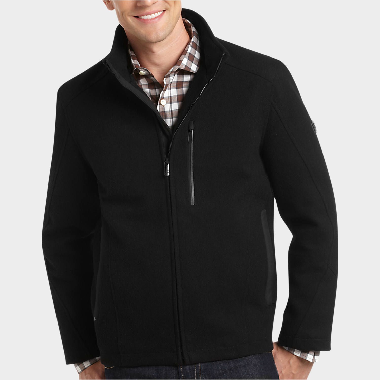 T tech black classic fit jacket