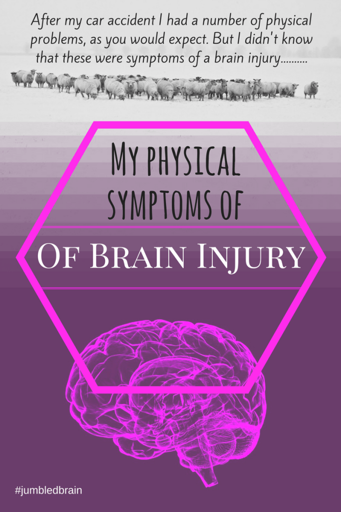 After my car accident I had a number of physical problems, as you would expect. But I didn't know that