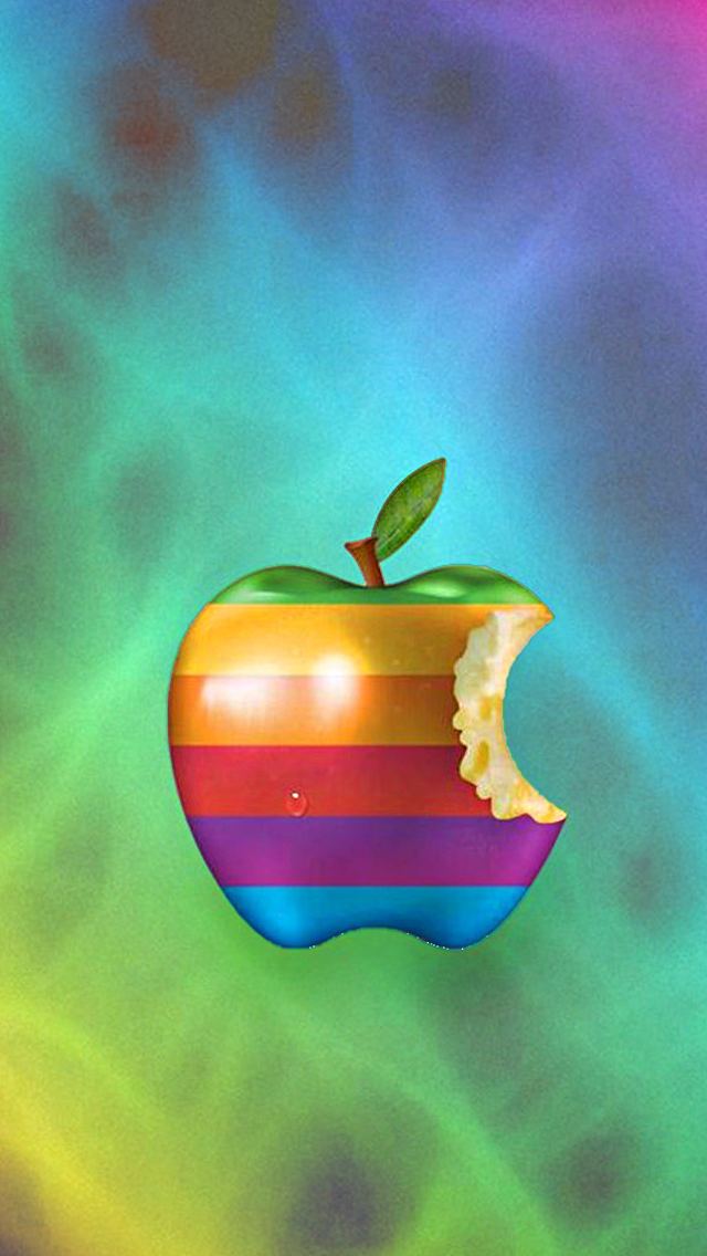 Download Colorful Apple 640 X 1136 Wallpapers 4522084 Apple