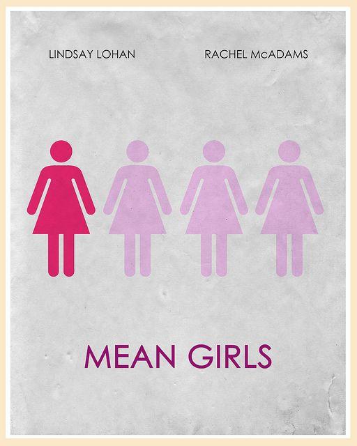 Mean Girls (2004) - Minimal Movie Poster by Jon Glanville ~ #jonglanville #minimalmovieposters #alternativemovieposters